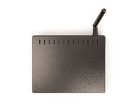 Wireless router top view Royalty Free Stock Images