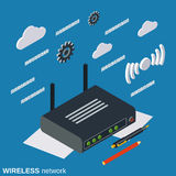 Wireless router vector concept illustration Stock Photography