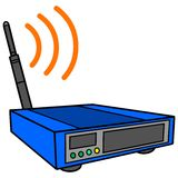 Wireless Router. A vector illustration of a Wireless Router Royalty Free Stock Image