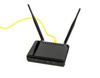 Wireless Router on White background . Royalty Free Stock Photos