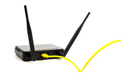 Wireless Router on White background . Stock Images