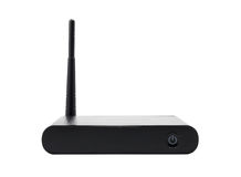 Wireless router on white background Royalty Free Stock Images