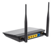 Wireless router on white with clipping path Stock Photography