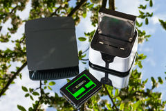 Wireless routers, docking station and ssd Royalty Free Stock Image