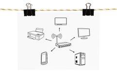 Wireless scheme Stock Photos