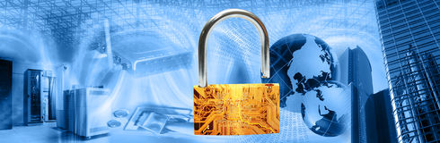 Wireless security montage Stock Photography