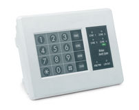 Wireless security system. Control pad isolated on white Stock Photos