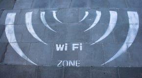Wireless sign stock photo