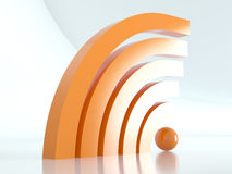 Wireless sign, 3D Stock Image