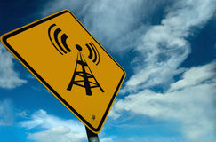 Wireless Sign Royalty Free Stock Photos