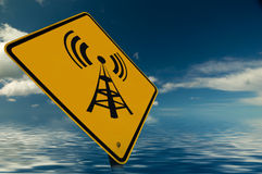 Wireless Sign Royalty Free Stock Photography