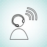 Wireless signal design Royalty Free Stock Photography