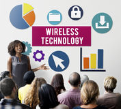 Wireless Signal Reception Mobility Graphic Concept Royalty Free Stock Photography