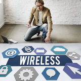 Wireless Signal Reception Mobility Graphic Concept Stock Image