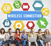 Wireless Signal Reception Mobility Graphic Concept Stock Photo