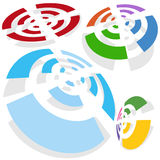 Wireless Signal Set Royalty Free Stock Images