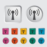 Wireless single icon. Vector illustration Royalty Free Stock Images