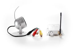 Wireless surveillance camera. With recevier Stock Images