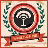Wireless symbol,Vintage style.  Stock Photography