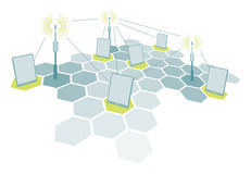 Wireless tablet network communication Stock Photography