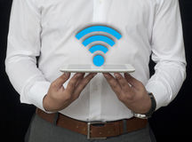 Wireless on the Tablet Stock Photos