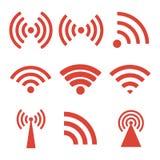 Wireless technology. Flat design style. Eps 10 stock illustration