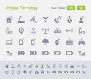 Wireless Technology | Granite Icons Royalty Free Stock Images