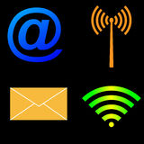 Wireless Technology icon set Royalty Free Stock Photography