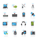 Wireless and technology icons Royalty Free Stock Photography