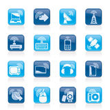 Wireless and technology icons Stock Photo