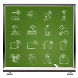 Wireless and technology icons Stock Images