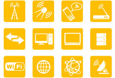Wireless Technology icons Stock Images