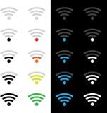 Wireless technology icons Stock Photo