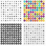 100 wireless technology icons set vector variant. 100 wireless technology icons set vector in 4 variant for any web design isolated on white stock illustration