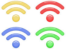 Wireless technology icons Stock Photography