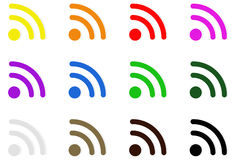 Wireless technology icons Royalty Free Stock Photography