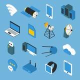 Wireless Technology Isometric Icons Stock Image