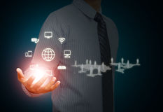Wireless technology and social media Royalty Free Stock Images
