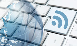 Wireless technology themes Stock Images