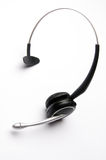 Wireless Telephone Headset. On White Background Stock Photo