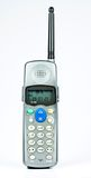Wireless telephone. Isolated on white background Stock Photo