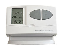 Wireless thermo control system. Wireless device for temperature control in a building Royalty Free Stock Photography