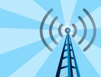 Wireless Tower background vector illustration