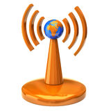 Wireless tower with radio waves royalty free stock photography