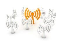 Wireless towers Stock Image