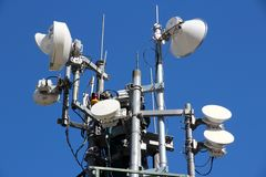 Wireless transmission tower Royalty Free Stock Image