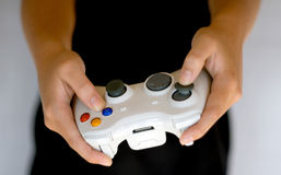 Wireless video game controller. Close up of Video Game Controller using bluetooth connection for wire free gaming Royalty Free Stock Images