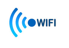 Wireless wifi network blue icon Royalty Free Stock Photos