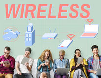 Wireless Wifi Router Digital Connection Concept Stock Photo