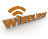 Wireless Word and Symbol - Mobile Connection Royalty Free Stock Images